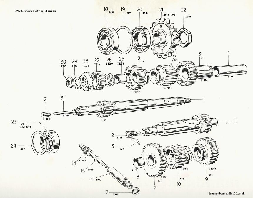 1967 Triumph 650 Engine Diagram Triumph T120 Engine