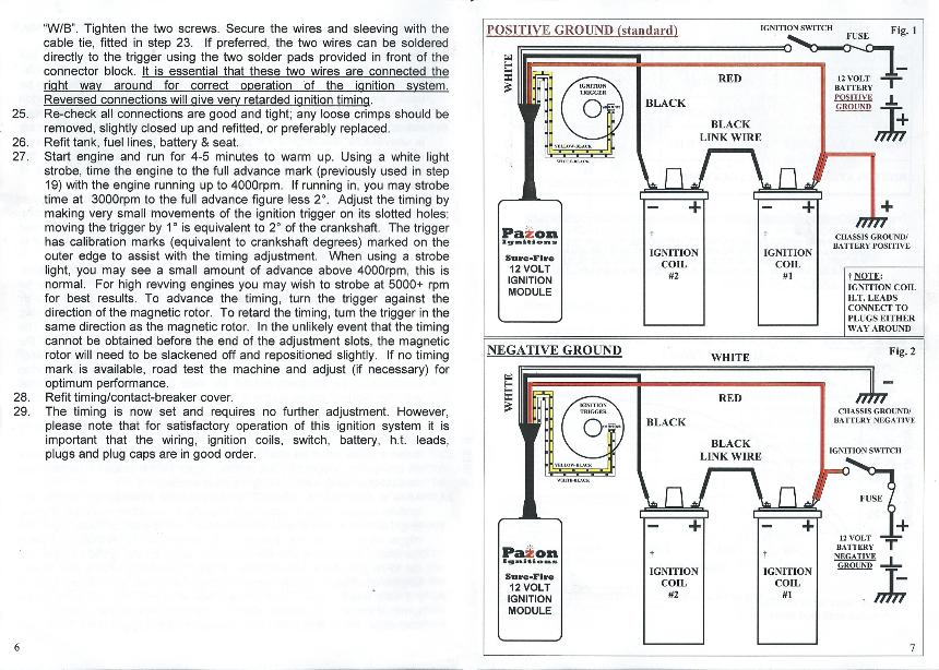 Pazon Ignition on triumph 5t wiring diagram