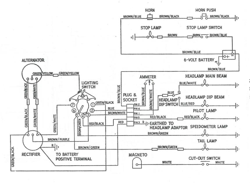 wiring diagram for 1966 triumph t120  wiring  free engine