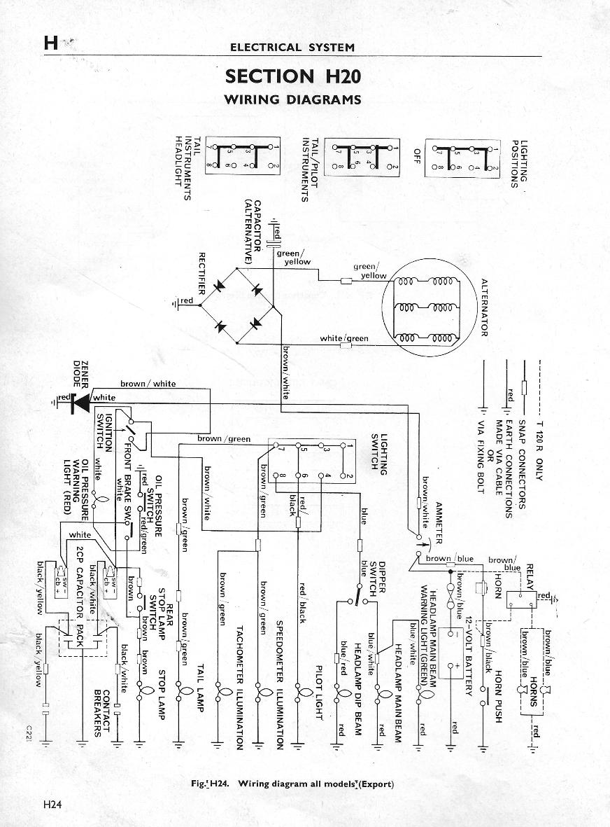 Terry Macdonald Boyer With Wiring Diagram For Triumph 1970 Model