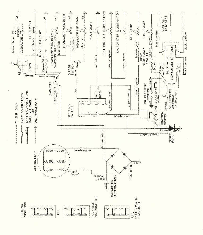 Triumph Wiring Diagram Another Blog About Electrical 650 Schematic Tr4 Gt6