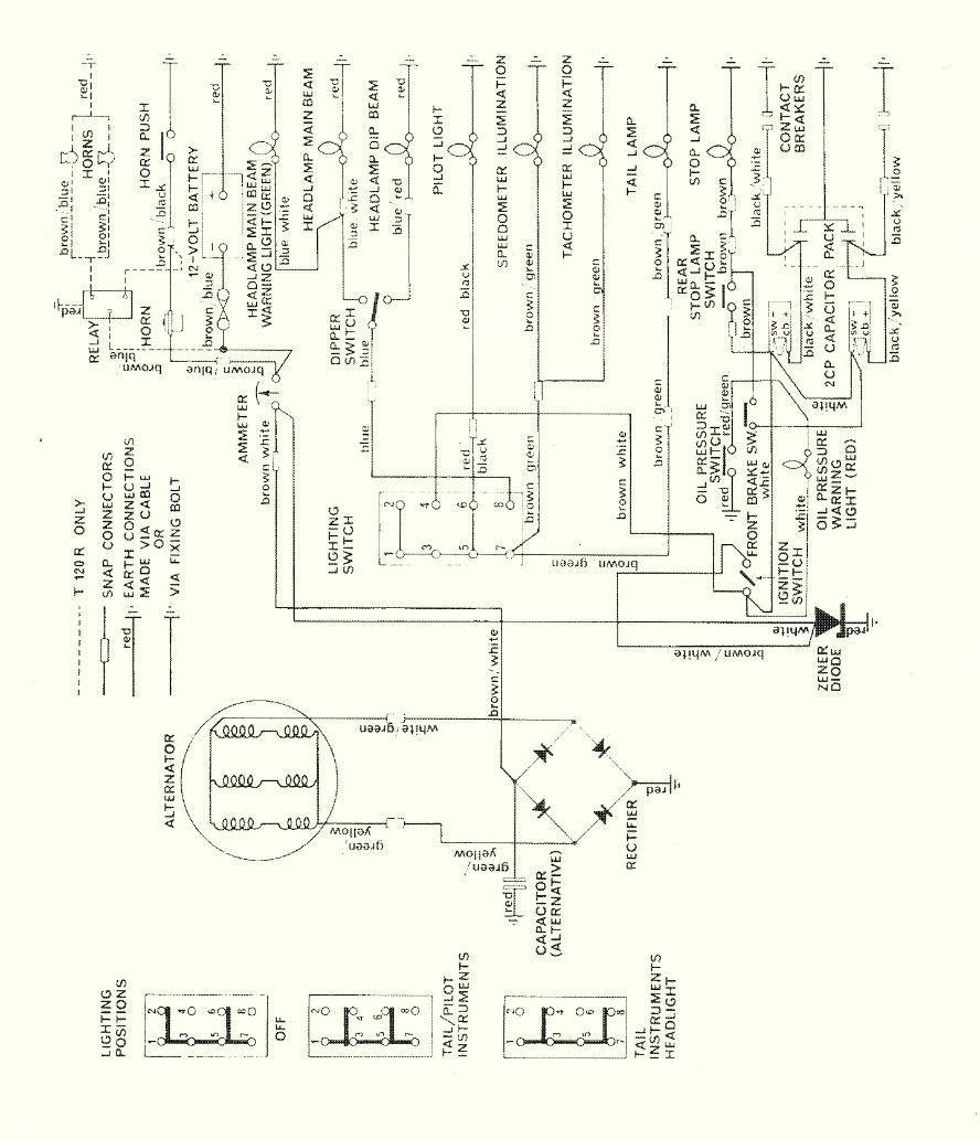 1969 Triumph Motorcycle Wiring Diagram Ignition Terry Macdonald Rh Triumphbonneville120 Co Uk 6 Volt Simple