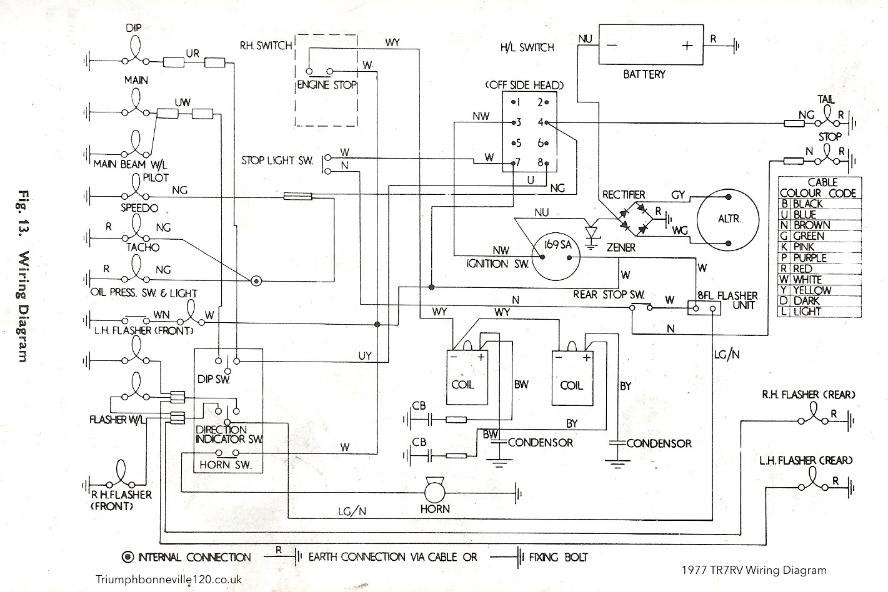 Triumph Spitfire Wiring Diagram On 1971 Triumph Tr6 Wiring Diagram