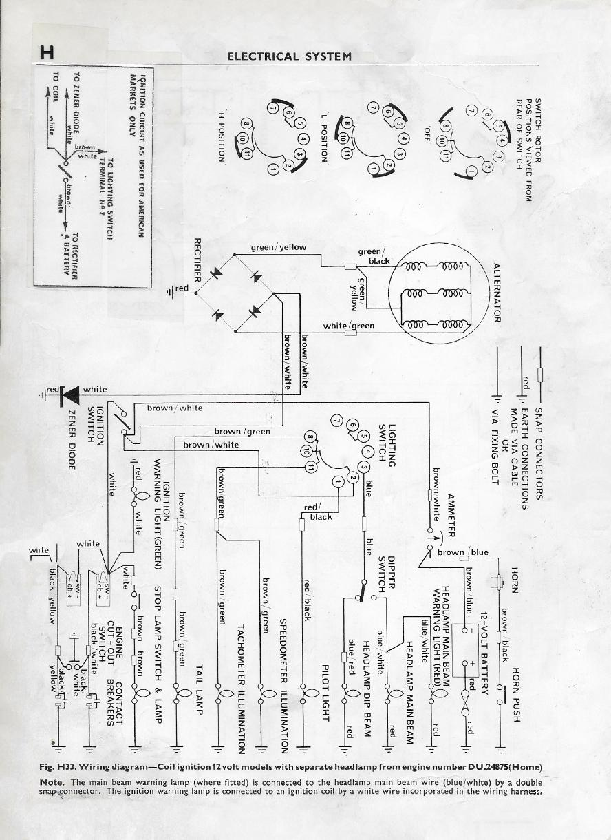 Terry Macdonald T120 Wiring Diagram 1970 Model