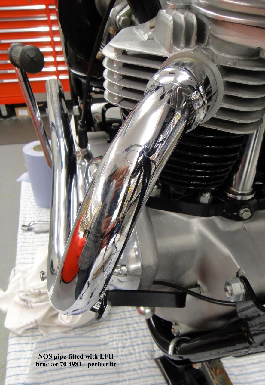 TR6SC - T120C exhaust system