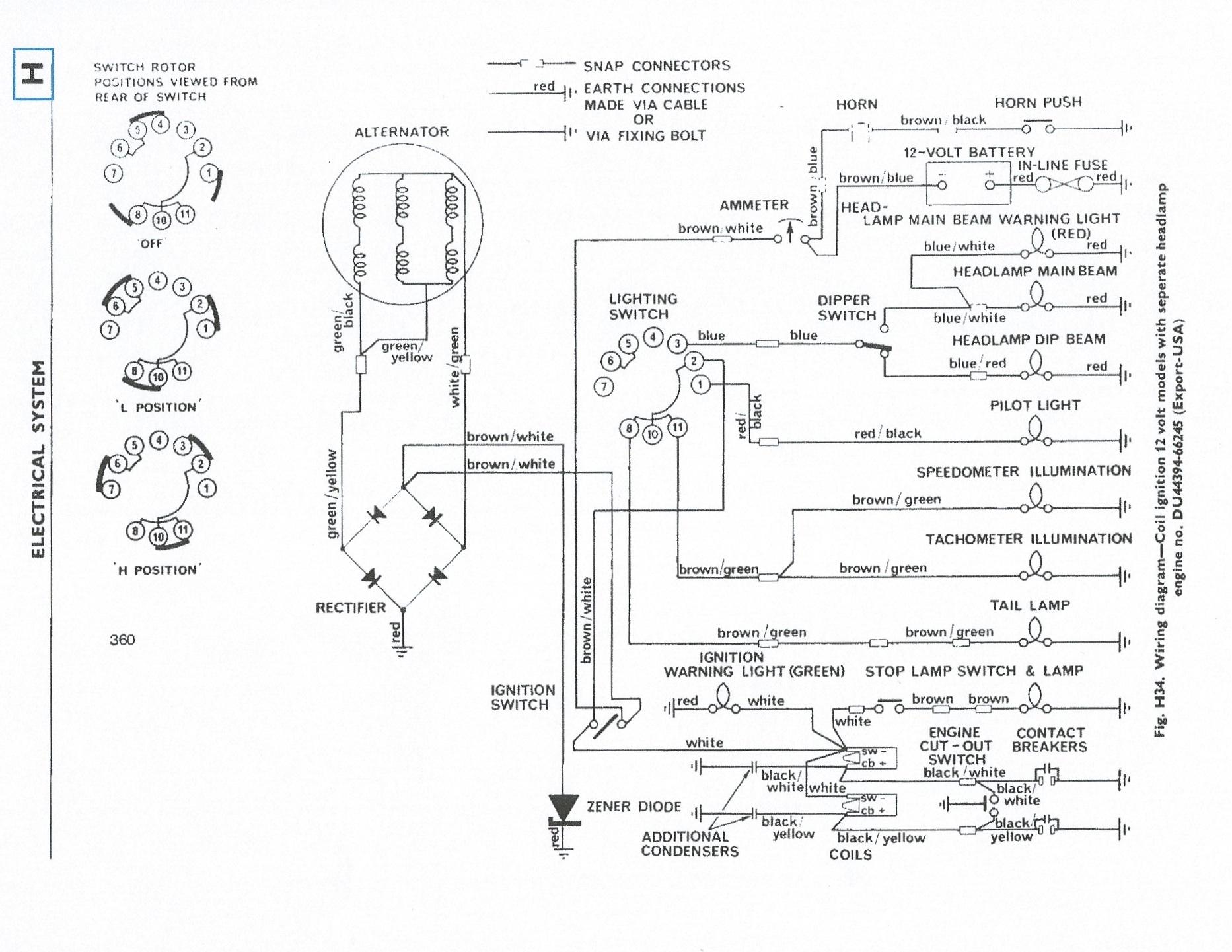 Triumph 500 Wiring Diagram Detailed Schematics Diagramrhantonartgallery:  1972 Triumph Tr6 Wiring Diagram At Gmaili.