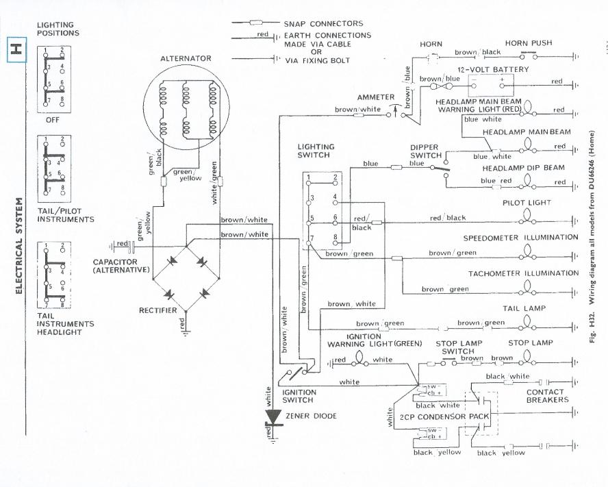 1970 Triumph Trophy 650 Wiring Diagram Data Wiring Diagram