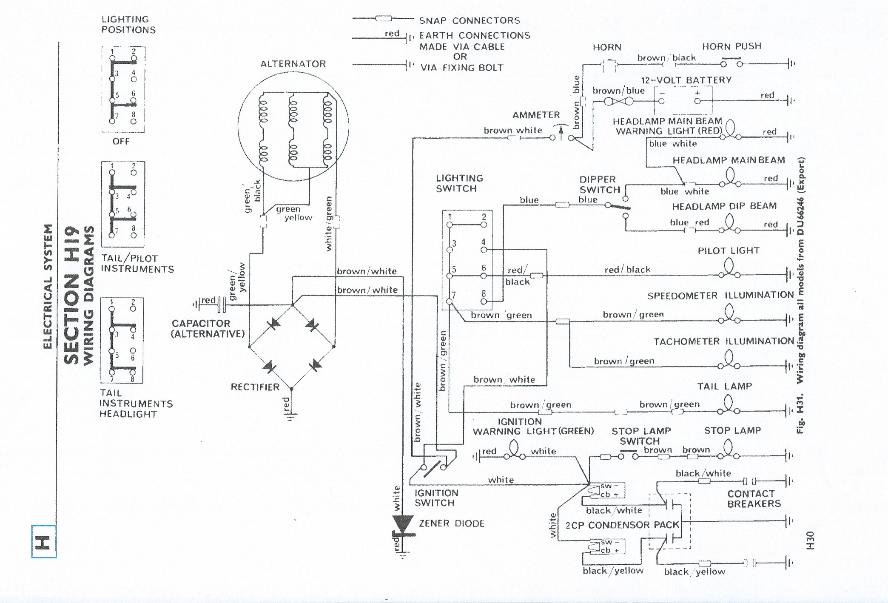 terry macdonald 1965 triumph wiring diagram