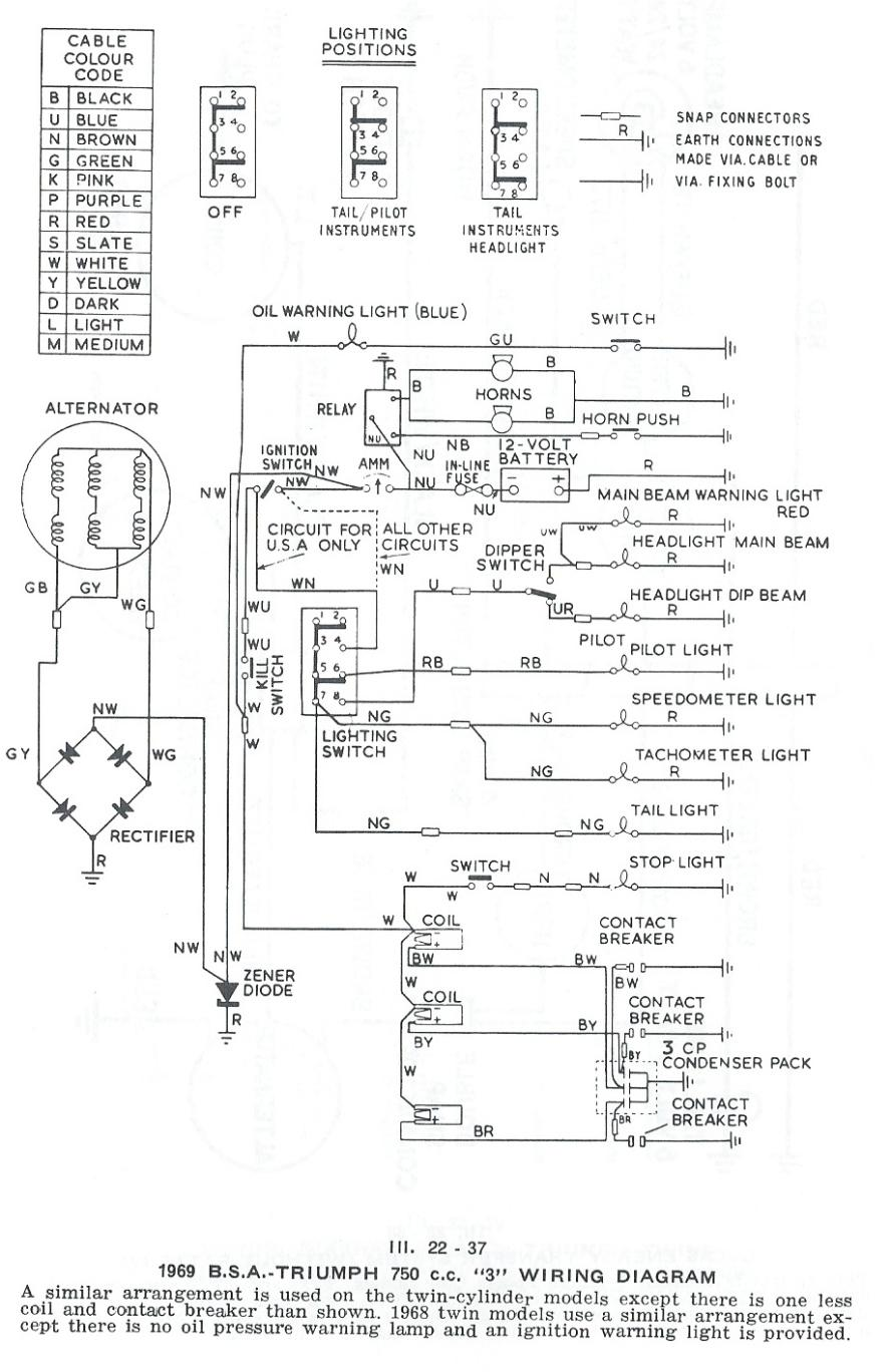1968 Bsa Wiring Diagram Just Data Hisun Terry Macdonald Ignition Switch